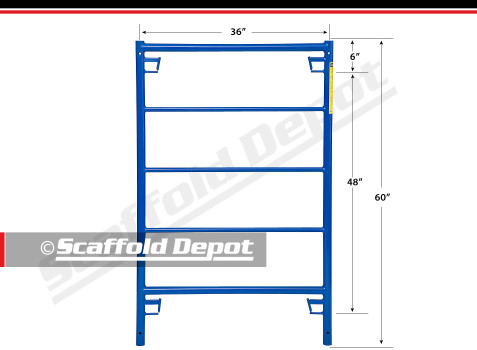 SD series box frame 60 inches high by 36 inches wide
